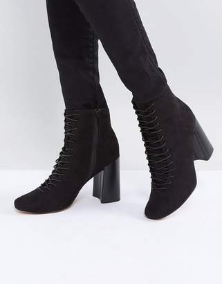 Asos DESIGN EVONNA Lace Up Heeled Ankle Boots