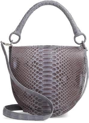 Nancy Gonzalez Genuine Python Saddle Bag