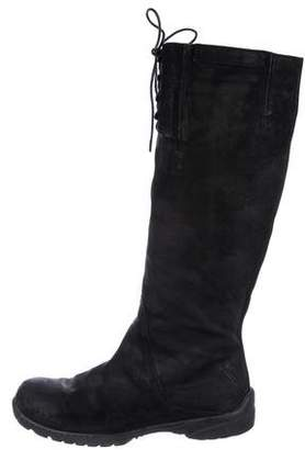 CNC Costume National Nubuck Knee-High Boots