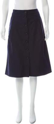 Marc Jacobs Button-Up Knee-Length Skirt
