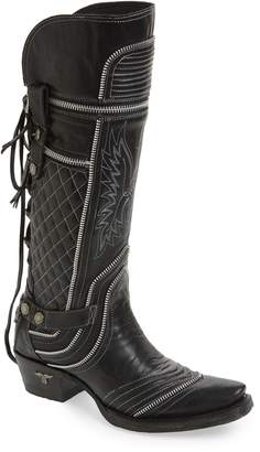 LANE BOOTS Zip It Convertible Knee High Western Boot