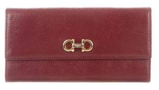 Salvatore Ferragamo Leather Gancio Wallet