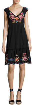 JWLA For Johnny Was Anaya Tiered Dress with Embroidery, Plus Size $190 thestylecure.com