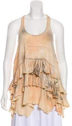 AllSaints Ruffle-Accented Tank Top