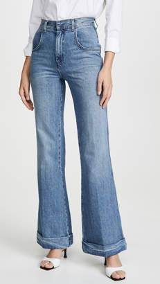 RE/DONE The 70'S Ultra High Rise Cuffed Bell Bottom Jeans
