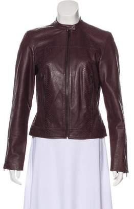 Calvin Klein Embossed Leather Jacket