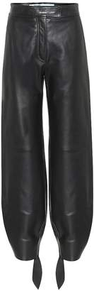 Off-White Off White High-rise leather pants