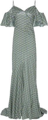 Zac Posen Liberty Cotton Cold Shoulder Dress