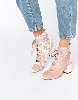 ASOS RANDA Lace Up Ankle Boots $61 thestylecure.com