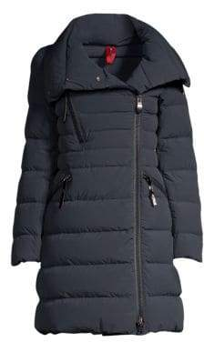 Post Card Zip Detail Puffer Coat