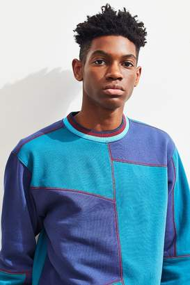 Urban Outfitters Colorblock Contrast Stitch Crew-Neck Sweatshirt