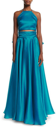 Milly Satin Bow-Back Skirt $895 thestylecure.com