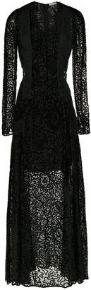 Martha Medeiros long velvet dress