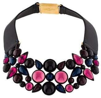 Louis Vuitton Glass & Leather Collar Necklace