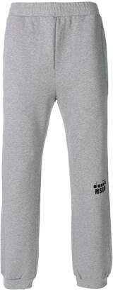 MSGM x Diadora logo print track pants