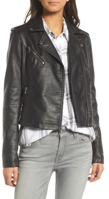 Women's Levi's Faux Leather Moto Jacket $150 thestylecure.com