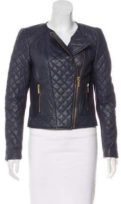 MICHAEL Michael Kors Quilted Leather Zip-up Jacket