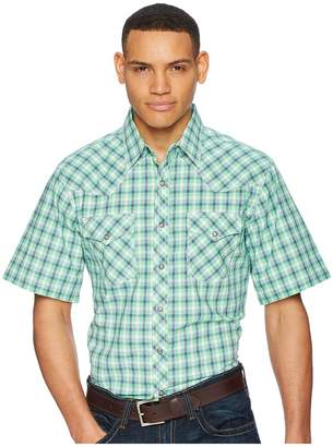 Wrangler Short Sleeve 20X Competition AC Shirt Plaid Men's Clothing