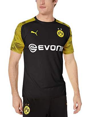 Puma Men's BVB Training Jersey with EVONIK Logo, Blackcyber Yellow, XL