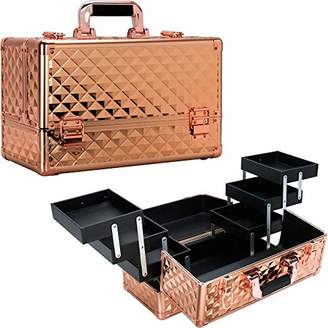 Ver Beauty 6-Tiers VP001 Accordion Trays Professional Cosmetic Makeup Train Case