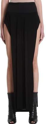 Rick Owens Lilies Black Viscose Skirt