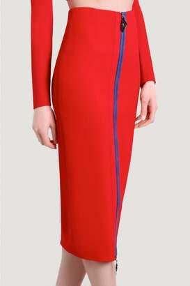 Cushnie Poppy Saar Pencil Skirt With Front Zip