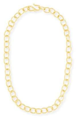 "Dina Mackney Hammered Oval-Link Chain Necklace, 18""L"