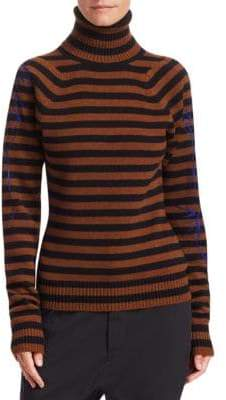Haider Ackermann Wool& Cashmere Stripe Turtleneck