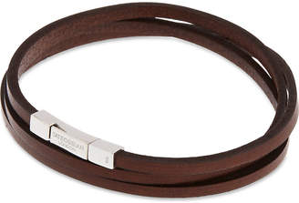 Tateossian Leather double-wrap bracelet