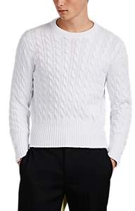 Thom Browne MEN'S CABLE-KNIT COTTON SWEATER