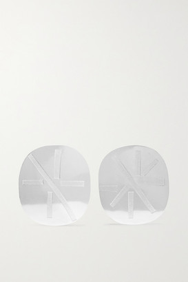Annie Costello Brown Noor Silver Earrings - one size
