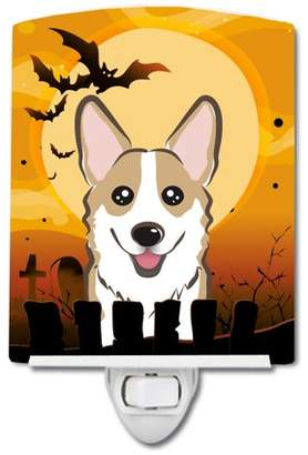 Corgi Caroline's Treasures Halloween Sable Ceramic Night Light