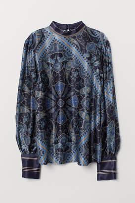 H&M Paisley-patterned Blouse - Blue