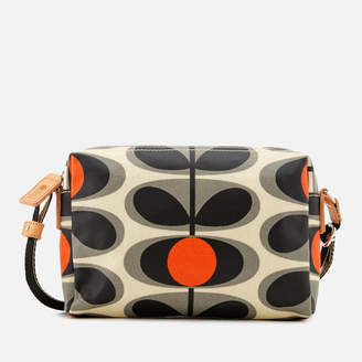 Orla Kiely Women S Canvas Flower Stem Print Small Cross Body Bag