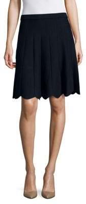 Saks Fifth Avenue BLACK Solid Cutout Skirt