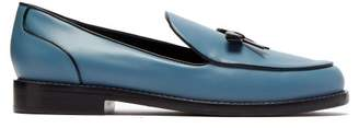 Fabrizio Viti - Keaton Bow Leather Loafers - Womens - Blue