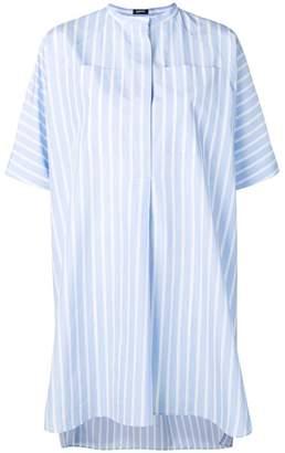 Jil Sander Navy striped collarless shirt dress