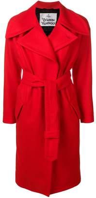 Vivienne Westwood oversized lapel belted coat