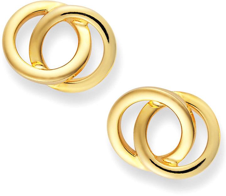 Giani Bernini 24k Gold over Sterling Silver Earrings, Circle Stud Earrings