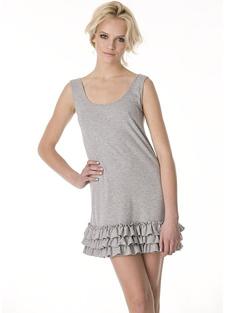 Aqua Sleeveless Jersey Ruffle Hem Dress: A Bloomingdale's Exclusive
