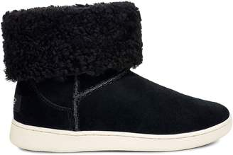 UGG Mika Sheepskin-Lined Suede Sneaker Boots