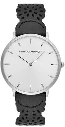 Rebecca Minkoff Major Etched Leather Strap Watch, 40mm