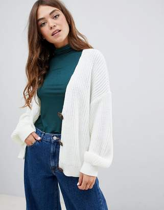 Asos (エイソス) - ASOS DESIGN cardigan with chunky buttons