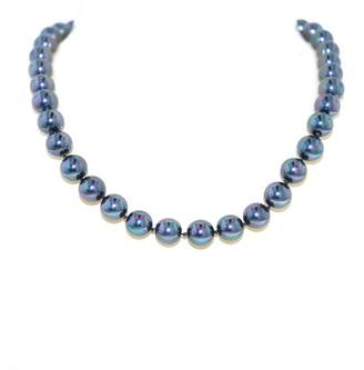 KOE Lilli & 10mm Petrol Pearl & Rhodium Necklace