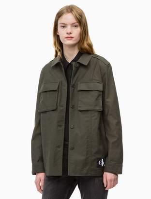 Calvin Klein solid cargo jacket