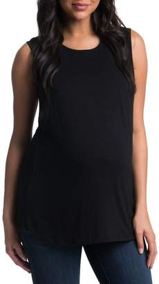 Bun Maternity High Neck Maternity Tank