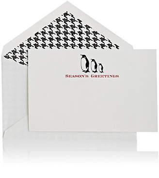 "Connor Penguin-Motif ""Season's Greetings"" Folded Notecard"