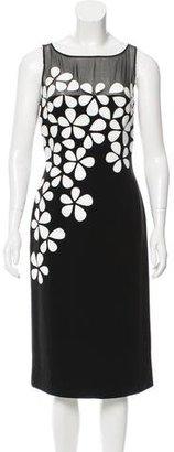 Carmen Marc Valvo Appliqué Midi Dress $130 thestylecure.com