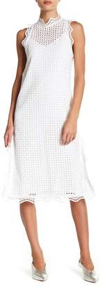 IRO Vicki Sheer Eyelet Midi Dress
