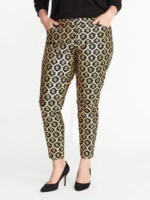 Old Navy Smooth & Slim Plus-Size Metallic-Printed Pixie Pants